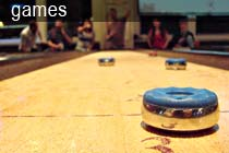 Shuffleboard, ping pong, skee ball, pool, billiards, darts